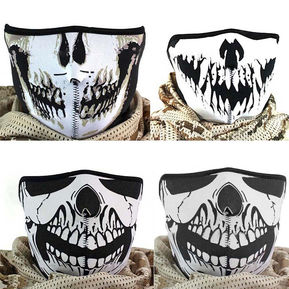 Best Multifunction Cosplay Bike Skeleton Mask Costume Halloween ...