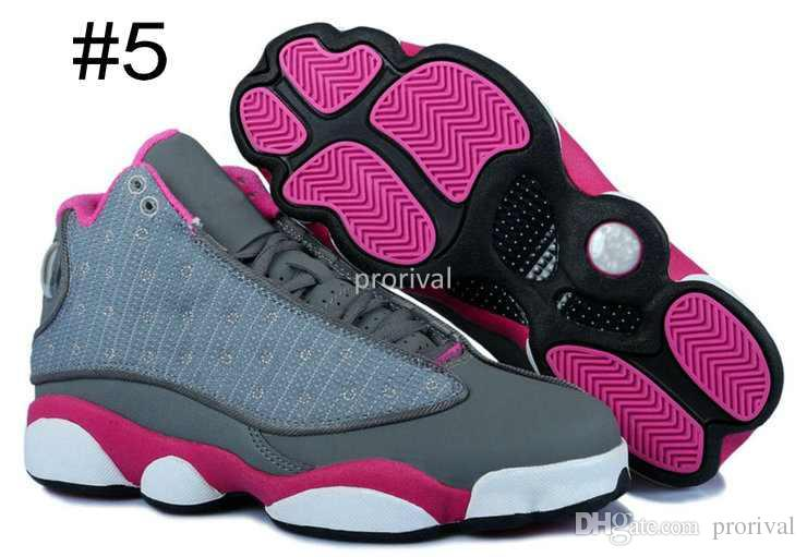 Fashion 13 XIII Basketball Shoes For Women,High Quality Woman 13s Athletic Sport Sneakers Trainers Womens Shoe Black White Flower Size 36-40