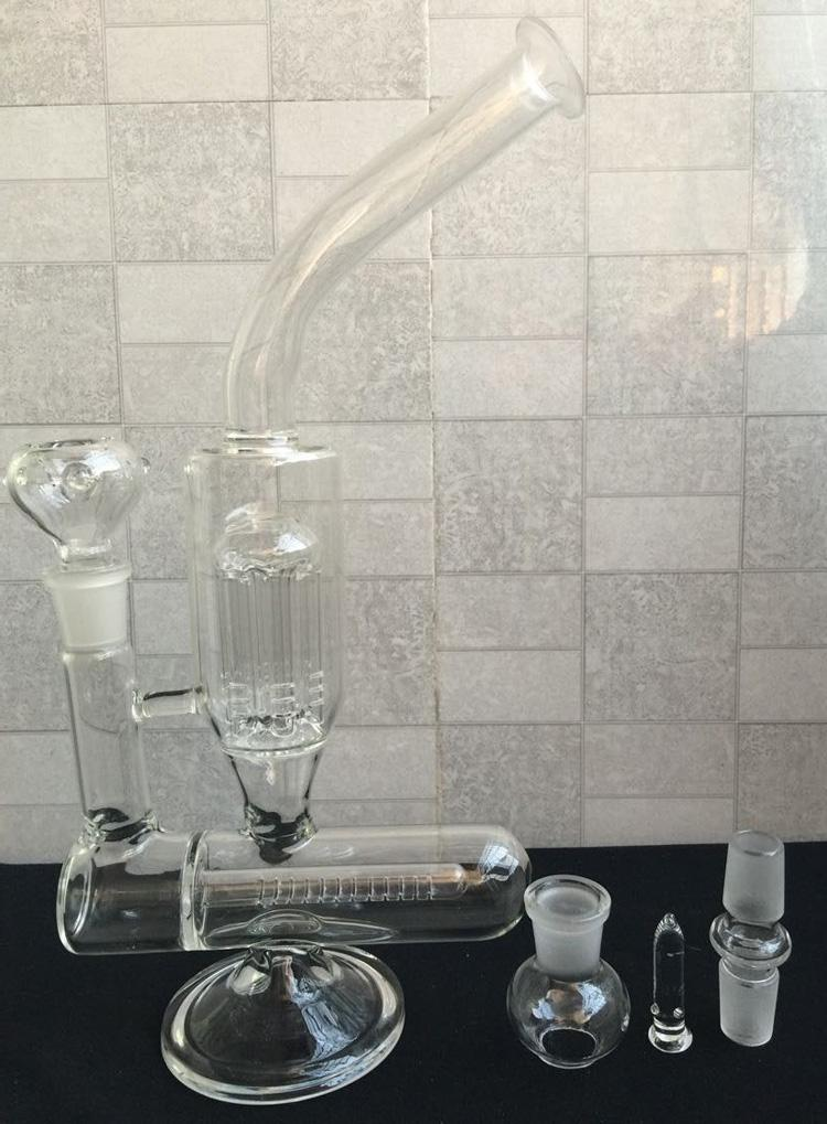 Glass Water Pipe with glass nail tornado perk glass water pipe glass bong 18.8mm jiont glass bowl oil rig