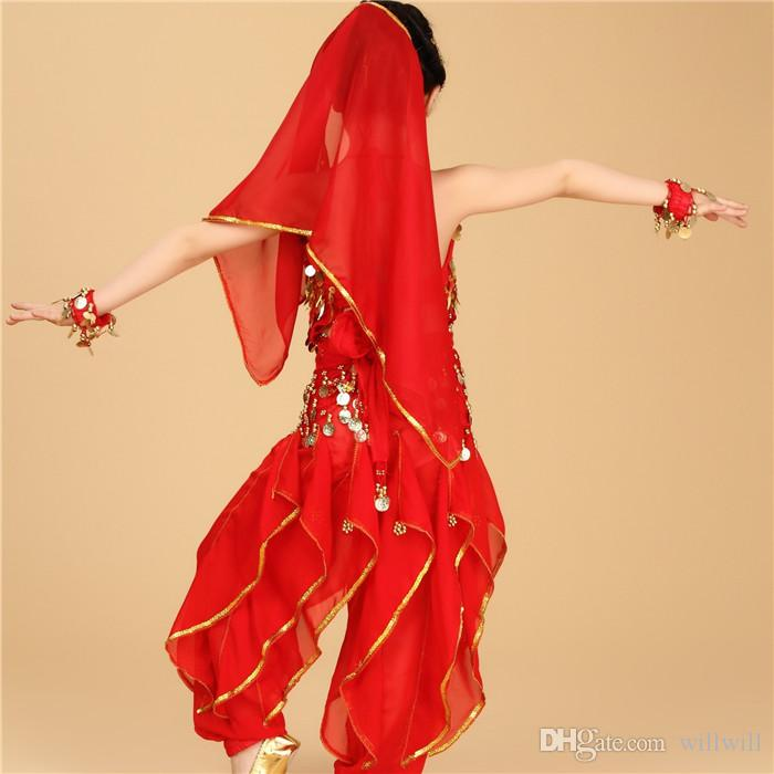 Mädchen Geschenk Bauchtanz Kinder Bauchtanz Kostüm Kind Tanzen Bühne Performance Wear Für Kinder Indisches Kleid Hohe Qualität