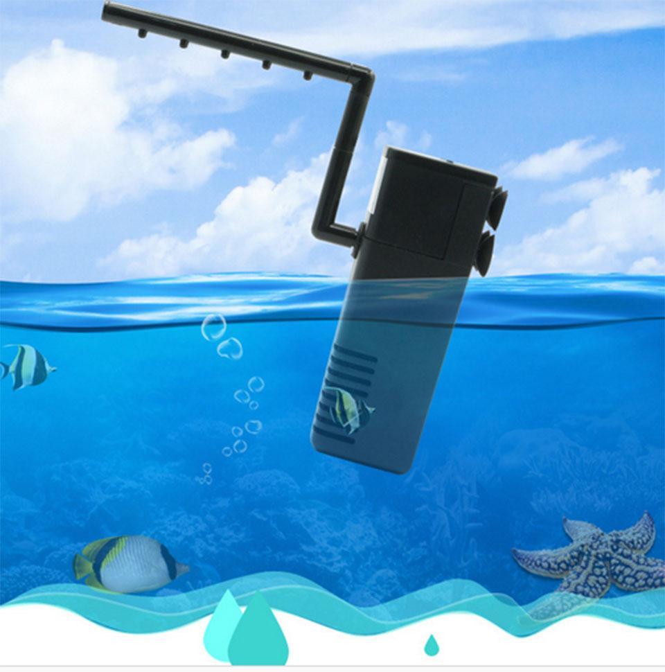 Pompe à oxygène de filtre de coin de réservoir de poissons d'éponge biochimique entraînée par air d'aquarium d'étoile de mer 3W ou 5W ou 8W