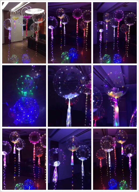 Led Bobo Ballon Bunte Transparente Runde Blase Festliche Party Weihnachtsdekoration Party Hochzeit Ballons Beleuchtung 3 Mt String WX9-174