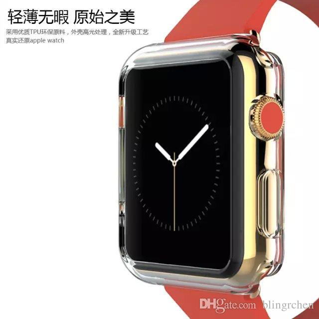 Transparent Soft Slim TPU Protection Silicone Case Cover for Apple Smart Watch 42MM / 38MM ,