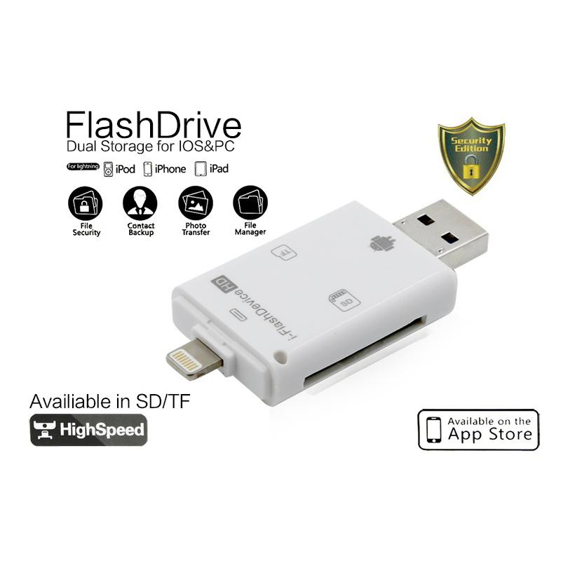 3 en 1 i-Flash Drive Multi-Card OTG Reader Micro SD TF Memoria USB Card Reader Adapter para iPhone 8 7 6 Plus Andriod PC