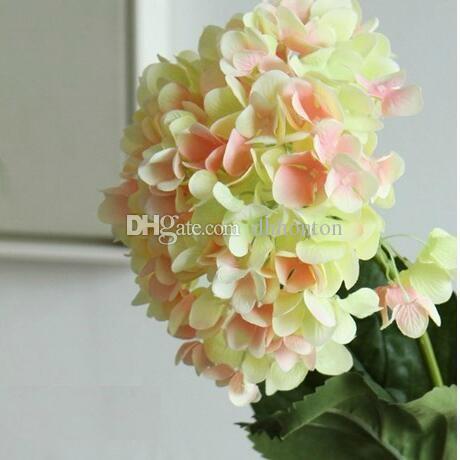 Hydrangea Artificial Flower Home Party Decorative Flowers good quality silk handmade flower bride bouquet artificial flower home decoration