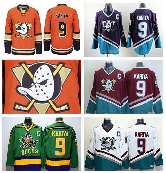 61063a56b ... ccm vintage retro kariya throwback jersey mighty c125d f2528  spain anaheim  ducks paul kariya jersey 9 retro team alternate white orange green purple  ...