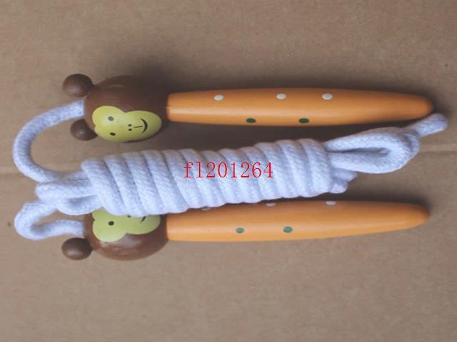 100 teile / los Freies Verschiffen Kinder Holzspringen Springseil Holz Cartoon Tiere Spielzeug Für Party Favor Supply Fitness