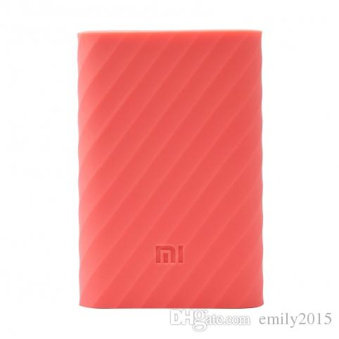 Silicon Case covers of XiaoMi power bank 10000mAh bateria External Battery Pack charging new year gifts MI LOGO