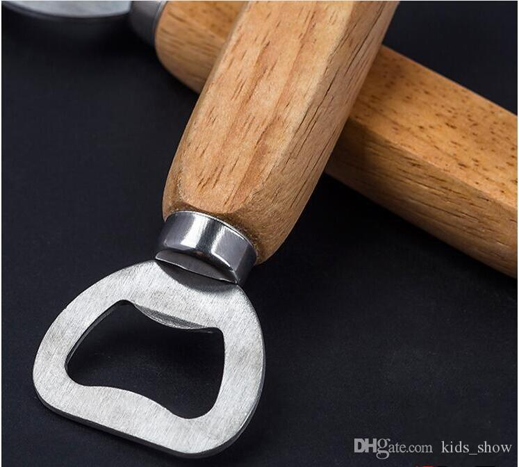 Stainless steel wooden handle Red wine beer bottle opener bar tools Strong Kitchen Tool Wooden Bottle Opener