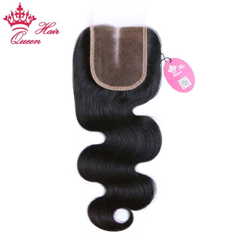 4x4 Middle Part Lace Closure Brasilianska Virgin Hair Body Wave 10inch till 20inch 100% mänskligt hår
