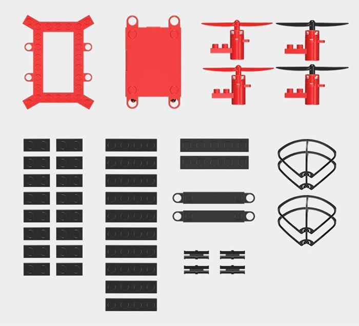 Date bricolage Drone Blocs de construction 2,4 GHz Drone Télécommande, Construisez-le Fly It Blue / Red 2018 Nouveau style DHL