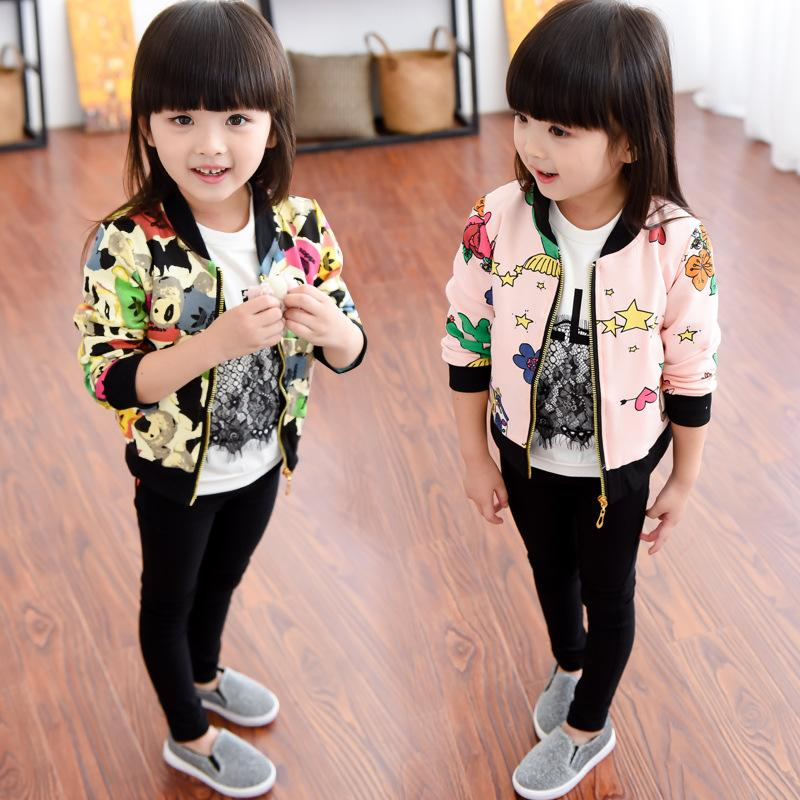 New Designer Child Girls Short Overcoat Kids Girl Cotton Cartoon ...