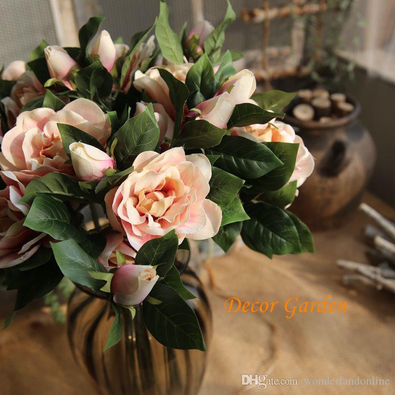 2019 Hot Selling Beautiful Artificial Gardenia Bouquet Silk Fake