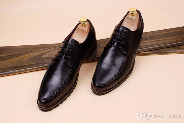 Men pointed tassel Oxford Leather shoes Man's Formal Dress Shoes For Groom Homecoming Wedding Christmas gift zapatos de novio aa527