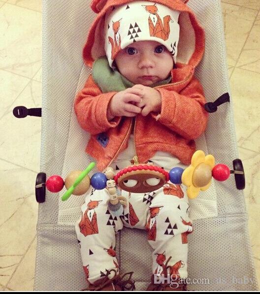 Baby Boys Girl animal Caps 2016 INS fashion spring autumn Lovely fox panda Hats Soft Warm caps 8styles 0-3T