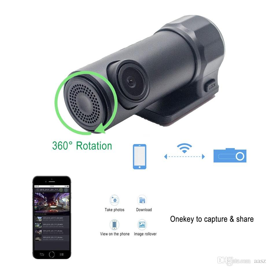 WIFI Auto DVR Kamera Dashcam Video Recorder Digital Registrar Camcorder APP Monitor Wireless DVRs Visture FC106