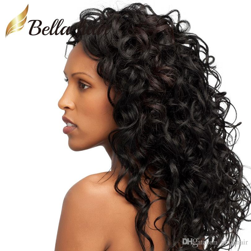 Wigs Human Hair Curly Lace Wigs Lace Front Wigs for Black Women Brazilian Virgin Human Hair Weaves Medium Brown Lace Color Bellahair