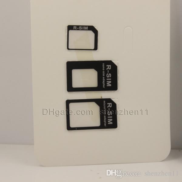nano sim adpater r-sim adaptador slot para cartão sim para iphone 4s 4 iphone 5 micro sim adaptador para cartão sim padrão VS adaptador noosy OTH023