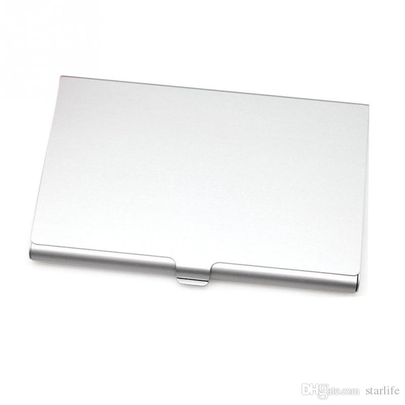 Aluminum Business Card Holder Case Stainless Steel Slim Metal Box Cover for Men Credit Card Holders Metal Wallet