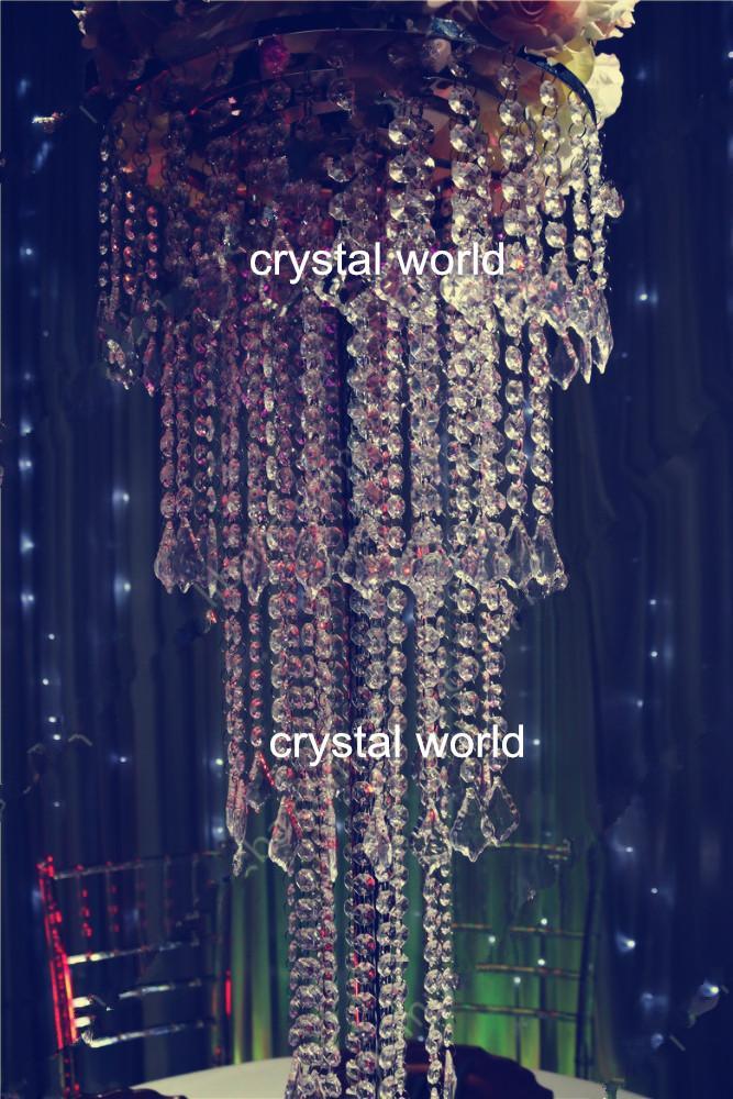 Centros de mesa de cristal de la lámpara de la decoración de la boda, soportes de flor de la mesa 6789wedding