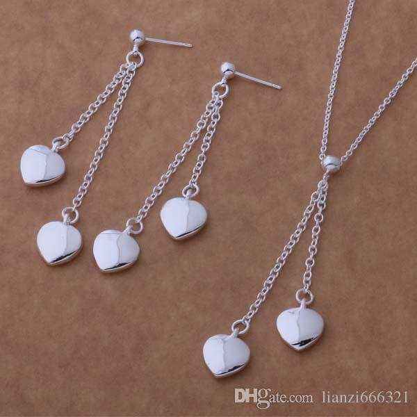 with tracking number New Fashion women's charming jewelry 925 silver 12 mix jewelry set 1452