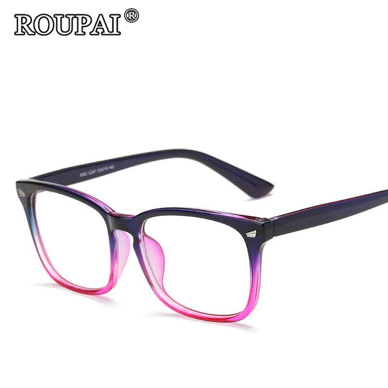 6fb93efc30 2019 Wholesale ROUPAI 2017 Latest Trends Hipster Unisex Glasses Frame  Vintage Retro Women Men Clear Glasses Beautiful Frame Eyeglasses Oculos  From Ekkk