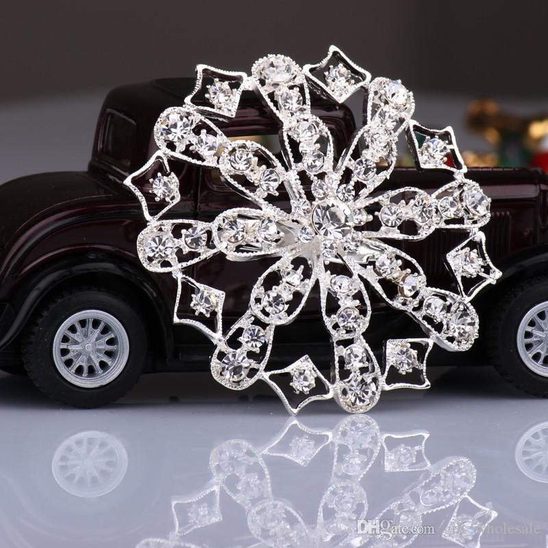 2015 2016 New Hot Silver Color Rhinestone Crystal Small Bridesmaid Fruits Flowers Pin Brooch 15 styles for choices