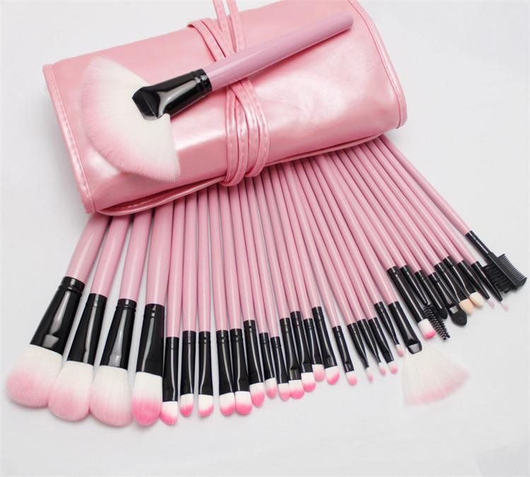 Professional Makeup Brushes Make Up Cosmetic Brush Set Kit Tool + Roll Up Case Free Shiping
