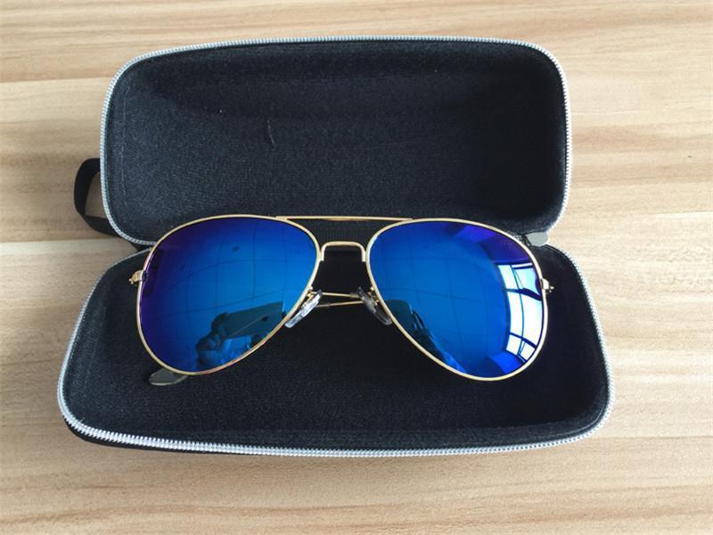 Модный универсальный апгрейд с ремешком на молнии с жестким крючком для солнцезащитных очков с компрессионной коробкой для женщин синий / черный / кофе / оранжевый 50шт / лот