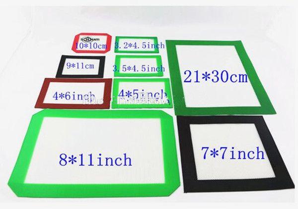 Almohadillas de cera de silicona esteras de hierba seca 10 cm * 10 cm cuadrado estera para hornear hojas de dabber tarros herramienta dab para contenedor de silicona DHL
