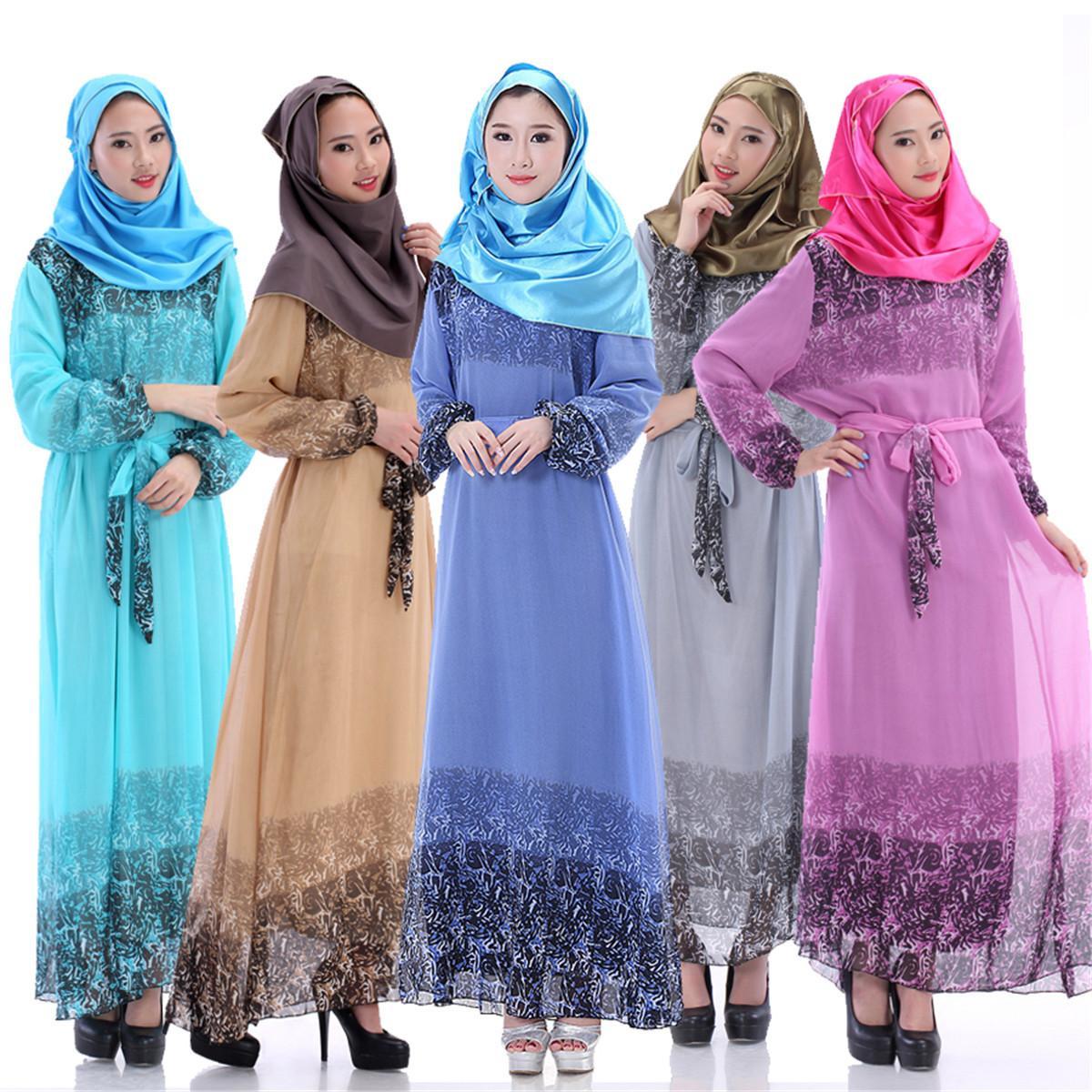 2016 Fashion Muslim Dridesmaid Dresses Sequins Arab Women Robes Long  Sleeves Islamic Ethnic Clothing Middle East Casual Dress E303J Long Dresses  Women ... 8df8e69b0