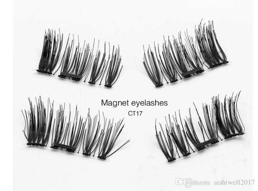 6D False Eyelashes Handmade Cilios Posticos No Glue Fake Eye Lashes Cross Reusable Single Magnetic Eyelash Extension