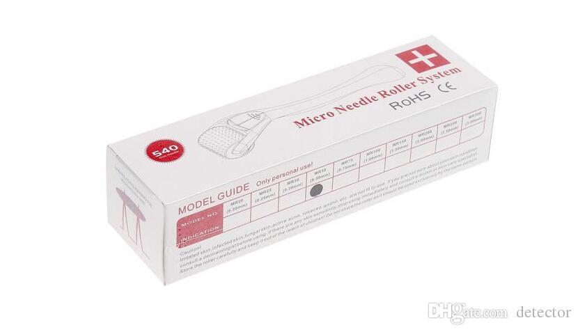 MT Titanium 540 Micro Nadel Haut Roller Dermatologie Therapie Microneedle Hautpflege Dermaroller Haut Derma