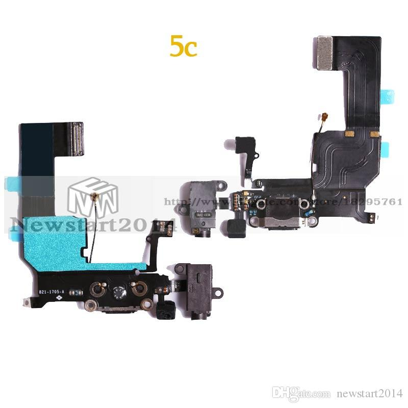 Charger Port For iPhone 5 5S 5C Charger Charging port Dock USB connector flex cable replacement Parts
