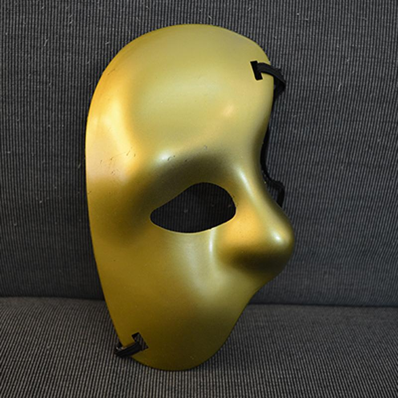 Party mask half face mask. Phantom of the Opera - right half of the face cloth mask