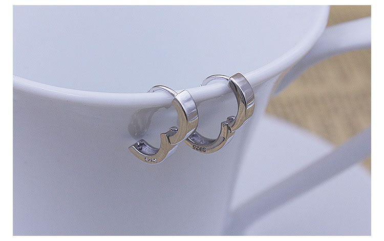 925 Ayar Gümüş Küpe Yeni Takı Hoop Kulak Manşet Klipler Erkek / Kadın Küpe damızlık Düğün için