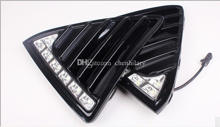 Estilo de brilho LED Car DRL Nevoeiro Conduzindo a Lâmpada 12 v led luzes diurnas do carro com luz virar para 2012 Ford Focus 3
