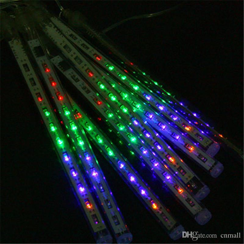 20 CM 30 CM 50 CMM Meteor Douches Pluie Tubes LED Mini Météores Lumières LED Cordes Lumière LED Lumière Noël Lumière De Mariage Jardin Décoration