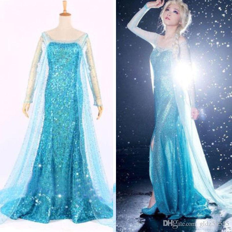 Großhandel Blau Bling Snow Queen Gefrorene Elsa Königin Princess ...
