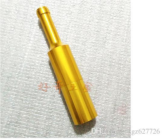 Squisito mini tubo di scarico della sigaretta tubo bottiglia rossa, consegna casuale di colore