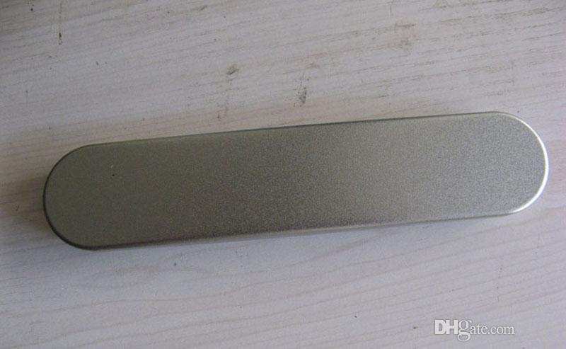 10 조각 금속 사각형 펜 상자 금속 포장 금속 선물 상자 크기 178x37x19MM, 7x1.45x0.75 인치