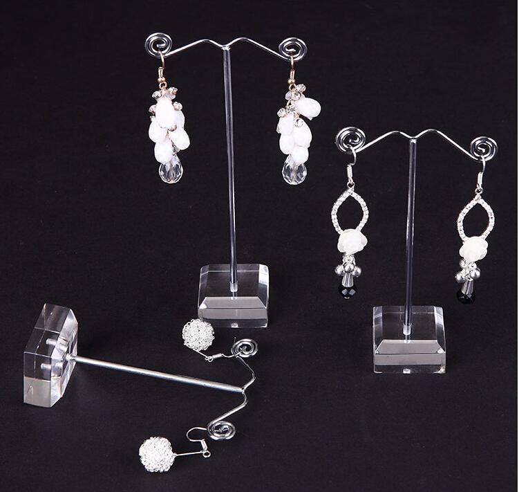 New Clear Acrylic Tree Jewelry Display Stand Earring Display Stand Earring Holder Rack Showcase necklace Holder