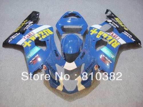Nuovo set di finiture 2014 il modello GSX-R600 750 K4 2004 2005 RIZLA set di carenature blu Suzuki GSX-R600 750 04 05 GSXR600 GSXR750 SW69
