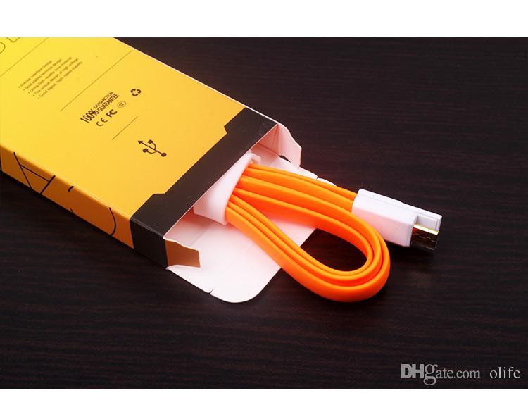 2017 Universal Micro USB Chargeur câble adaptateur papier boîte de vente au détail boîte pour iPhone 7 5S 6 6S plus Samsung S8 S6 bord S7 avec poignée