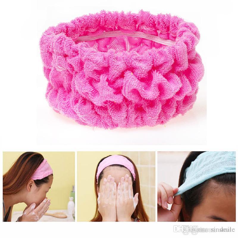 Wholesale- Elastic Headband Cute Women Hair Bands For Sport Yoga Shower  Hair Band Bath Turban Wash Face Make Up Headbands Girls Accessories c8f95164e3a4
