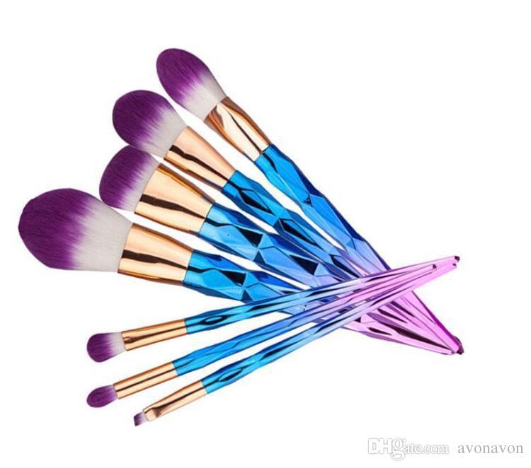 Sıcak satış Makyaj Fırçalar Setleri Mermaid Vida Diamonds Kabak 3D Profesyonel Fırçalar Vakfı Kozmetik Fırça Seti Kiti Araçları b816
