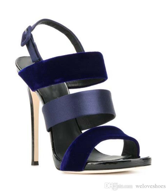 2017 vente chaude femmes mixte couleur sandales à bout ouvert gladiateur sandales chaussures de soirée mince talon patchwork talons hauts chaussures de célébrité