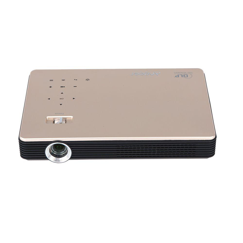 Andoer M1 Wi-Fi 3D HDMI VGA USB 1000 Lumens 1080P Android 4.2 DLP Projector for Business Education Entertainment Home Theater