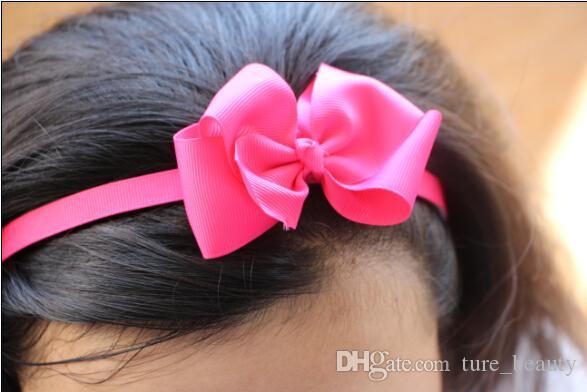 Detalle de la moda de la diadema de plástico con el boutique que el pelo del arco de la cabeza de los niños los accesorios para el cabello de los niños 30 unids / lote