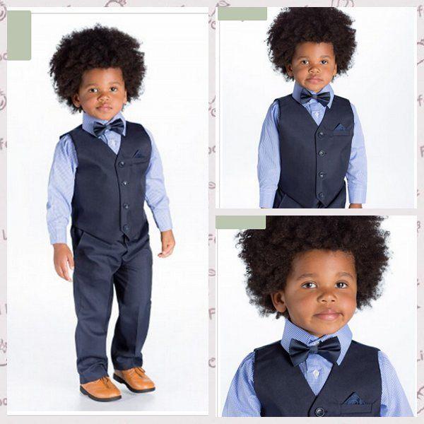 Boy\'S Formal Wear Boys Tuxedo Suits Wedding Flower Girl Dress Little ...